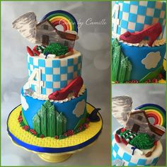 The Wizard of Oz Cake Art - OMG, how cute (and no figurines)