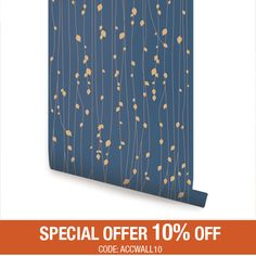 Leaves Blue Peel & Stick Fabric Wallpaper Repositionable by AccentuWall on Etsy https://www.etsy.com/listing/154023948/leaves-blue-peel-stick-fabric-wallpaper