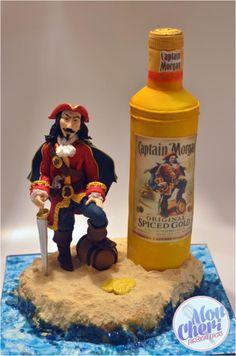 Captain Morgan Rum cake - Cake by Mon Cheri Cakes