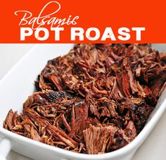 Simple recipe for a great slow cooker roast beef. The results are tender and flavorful- perfect for a roast beef sandwich! Roast Beef Recipes, Slow Cooker Recipes, Cooking Recipes, Beef Dishes, Food Dishes, Main Dishes, Slow Cooker Roastbeef, Balsamic Roast Beef, Balsamic Vinegar