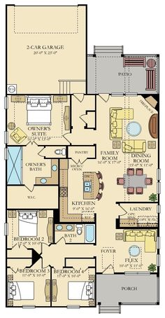 Fulton New Home Plan in Durham Farms: Heritage Collection by Lennar New House Plans, Dream House Plans, Small House Plans, House Floor Plans, Farm Bedroom, 4 Bedroom House, Durham, Rustic Bedroom Design, Family Dining Rooms