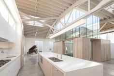Bowstring Truss House in Portland, Oregon by Works Partnership Architecture via @HomeDSGN