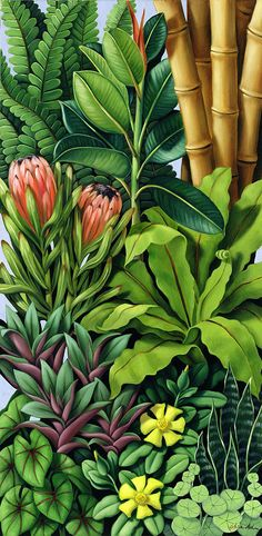 Foliage IIi by Catherine Abel {2005} oil on canvas