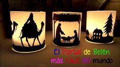 Ideas faciles y baratas para decorar en Navidad, Portal de Belen con velas