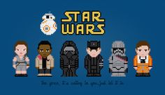 Star Wars - The Force Awakens - PixelPower - Amazing Cross-Stitch Patterns http://www.pixelpowerdesign.com/shop/movies/product/show/440-star-wars-the-force-awakens