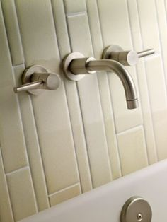 Newport Brass carries the East Linear Wall Mount Lavatory Faucet and is available in a number of different finishes. Wall Mounted Basins, Wall Mount Faucet, Brass Bathroom, Hall Bathroom, Bathroom Ideas, Kitchen And Bath Showroom, Lavatory Faucet, Brass Faucet, Newport Brass