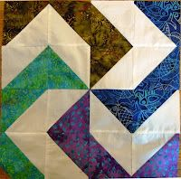 Another half square triangle block.