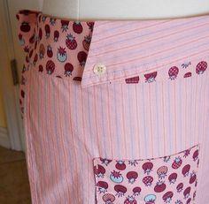 Upcycled Men's Shirt Apron -...