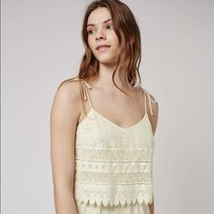 I just added this to my closet on Poshmark: Topshop Crochet Layer RomperNWT. Price: $45 Size: US 6