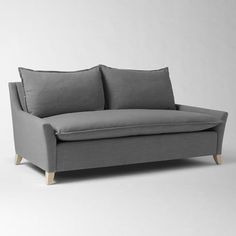 "Bliss Down-Filled Sofa | west elm80"" SOFA • Overall product dimensions: 79.5""w x 39.5""d x 36.5""h. • Seat depth: 23"". • Interior seat width: 71"" • Back height: 14.5"". • Clearance under sofa: 4.5""."