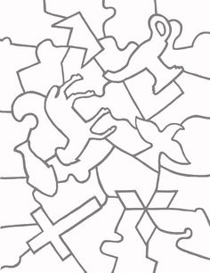 Paper Jigsaw Puzzle Templates | Learn To Coloring