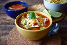 """This soup is quick to make, flavorful, and filling! Serve with warm corn bread or tortillas. Garnish with chopped fresh avocado, Monterey Jack cheese, crushed tortilla chips, or green onion!"""