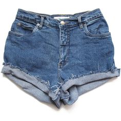 High waist shorts M ❤ liked on Polyvore
