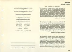 Primer type specimen