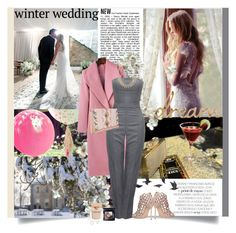 """Winter wedding"" by prudence-sarah ❤ liked on Polyvore featuring Lauren Conrad, Alexander McQueen, Sergio Rossi, Pijama, BCBGeneration, Valentino, Christian Dior, Jayson Home, Narciso Rodriguez and winterwedding"