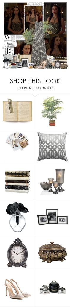 """Mary Stuart"" by elenadobrev90 ❤ liked on Polyvore featuring The Vatican Library Collection, Chronicle Books, Bandhini Homewear Design, F, Lalique, Home Decorators Collection, Zara, Gianvito Rossi and Garden Trading"