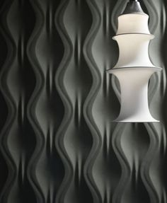 Panneau mural ONDA By Surface design Jacopo Cecchi, Romano Zenoni Loft Design, Design Hotel, Surface Design, 3d Wandplatten, Panneau Mural 3d, 3d Wallpaper For Walls, Decorative Wall Panels, 3d Wall Panels, 3d Texture