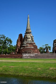 Wat Maha That buddist temple at Ayutthaya, Thailand, #getty exclusivity UNESCO place Asia.