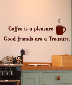 Coffee is a pleasure Sign Vinyl Lettering by itswritteninvinyl, $17.22