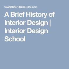 A Brief History Of Interior Design | Interior Design School