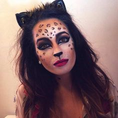 Simple Cheetah Halloween Makeup