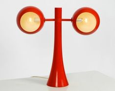 Large double shade table lamp by Temde Space Age, Vintage Lamps, Mid Century Design, Lamp Design, Woodstock, Pop Art, 1960s, Table Lamp, Shades