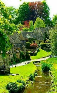 Bibury is a village and civil parish in Gloucestershire, England. It is on the River Coln, a Thames tributary that rises in the same District. The village centre is 6 ¹⁄₂ miles northeast of Cirencester. Wonderful Places, Beautiful Places, Beautiful Pictures, Places To Travel, Places To Go, English Countryside, Belle Photo, Beautiful Landscapes, Wonders Of The World