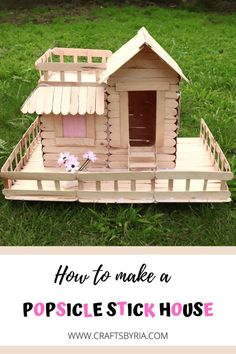 Step by step tutorial on making a popsicle stick house. Such a fun STEM project for teens and tweens to develop the engineering, math and design skills. Perfect boredom buster craft for kids and adults. #popsiclecraft #STEM