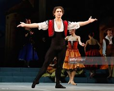 Mikhailovsky Ballet dancer Ivan Vasiliev performs a scene from 'Don Quixote' during a dress rehearsal at David H. Koch Theater, Lincoln Center on November 20, 2014 in New York City.