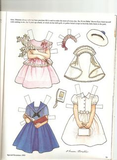 Sew Beautiful paper doll Bebe 2 by Lagniappe*Too, via Flickr