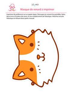 Les masques du carnaval le masque de canard 2 canards masque et la ferme - Masque de renard a imprimer ...