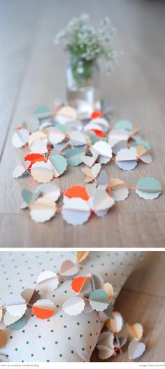 Garland. Paper paint chips.
