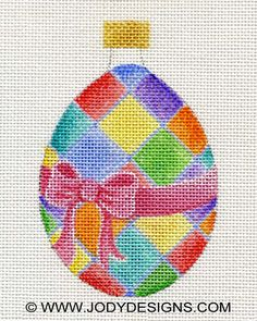 Harlequin Egg Needlepoint Ornament  Jody Designs  by JODYdirect, $48.00