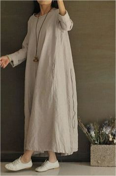 142 ideas for gorgeous long sleeve maxi dresses casual – Women Fashion Simple Dresses, Casual Dresses, Casual Outfits, Fashion Outfits, Casual Boots, Men Casual, Awesome Dresses, Linen Dresses, Women's Dresses