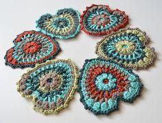 Crocheted Heart PDF pattern Hearty Garland by LillaBjornCrochet