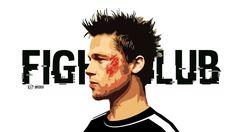 Películas El club de la lucha  Brad Pitt Portrait Artwork Actor Celebridades Tyler Durden Fondo de Pantalla