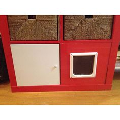 Ikea Hacks: EXPEDIT/KALLAX litter box concealed!  The Pet Edition - The Cottage Market