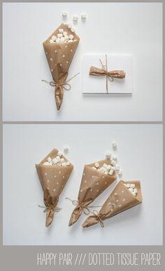 happy_pair_tissue, confetti cone, sweets cone, wedding idea, DIY