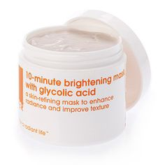 Lather 10 Minute Brightening Mask. Glycolic, lactic and kojic acids combine to tingle skin into rapid exfoliation that lightens hyperpigmentation. $28