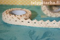 Natural white lace tape