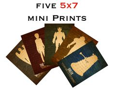 Art for the robot bathroom?  Five 5x7 Mini Doctor Who Alien Prints - Steampunk Fine Art Poster Illustration Science Fiction. $27.00, via Etsy.