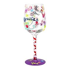 Top Shelf Thank You Wine Glass Comes packaged in a see through gift box along with a ribbon and customizable hang tag!