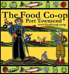 Hey, I (Brwyn Griffin) made this logo with images created by Mindy Dwyer! http://www.foodcoop.coop/  Port Townsend, WA