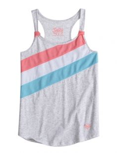 Colorblock Mesh Tank | Girls Tops & Tees Clothes | Shop Justice
