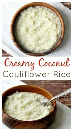 This Creamy Coconut Rice is a low carb alternative to my regular Coconut Cauliflower Rice recipe. It's equally as delicious and naturally gluten free too!
