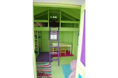 Better view of inside shed turned into playhouse
