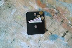 Small leather wallet for bills and coins by inSidegift on Etsy