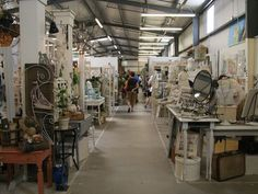 The huge indoor and outdoor market at Atlanta's Lakewood 400 Antiques Market offers a rich spread of merchandise from vintage toys to mid-century appliances like blenders and shiny toasters.