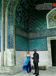 Kate Moss and Chiwetel Ejiofor by Mario Testino for Vogue Dec 2013