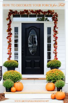 How to decorate your porch for fall   A Bowl Full of Lemons